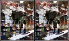 Genua: Gemüsehändler und Haushaltswaren [3D]