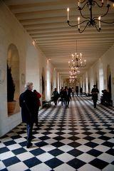 Géométrie au sol (galerie du chateau de Chenonceau)