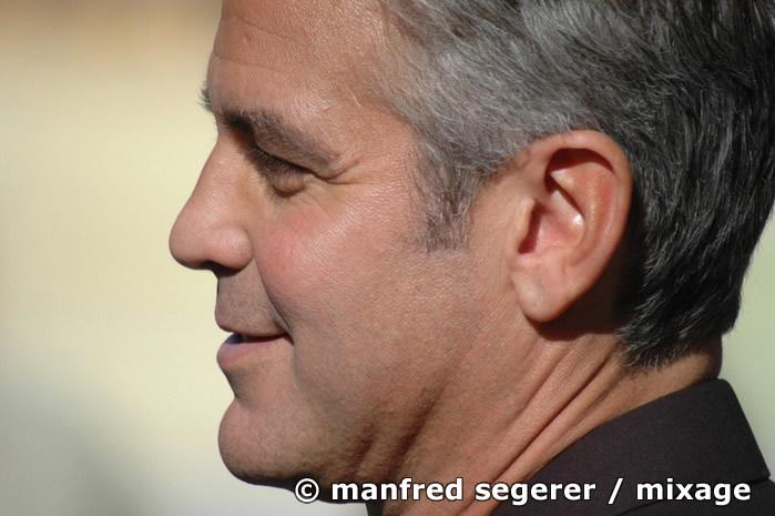 George Clooney am Filmset