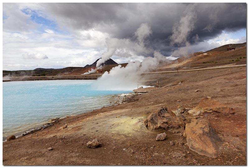 Geothermisches Kraftwerk bei Myvatn (Island)