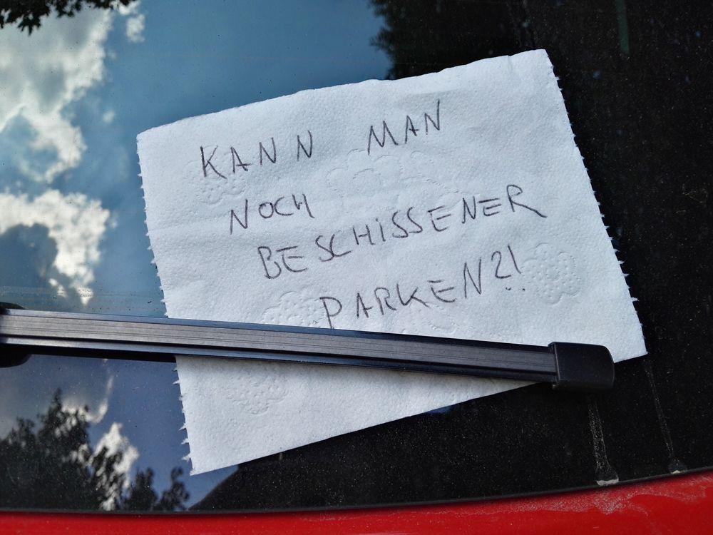 geparkt für zwei...