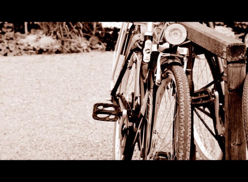 Geparktes Fahrrad