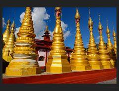 Gepflegte Stupas