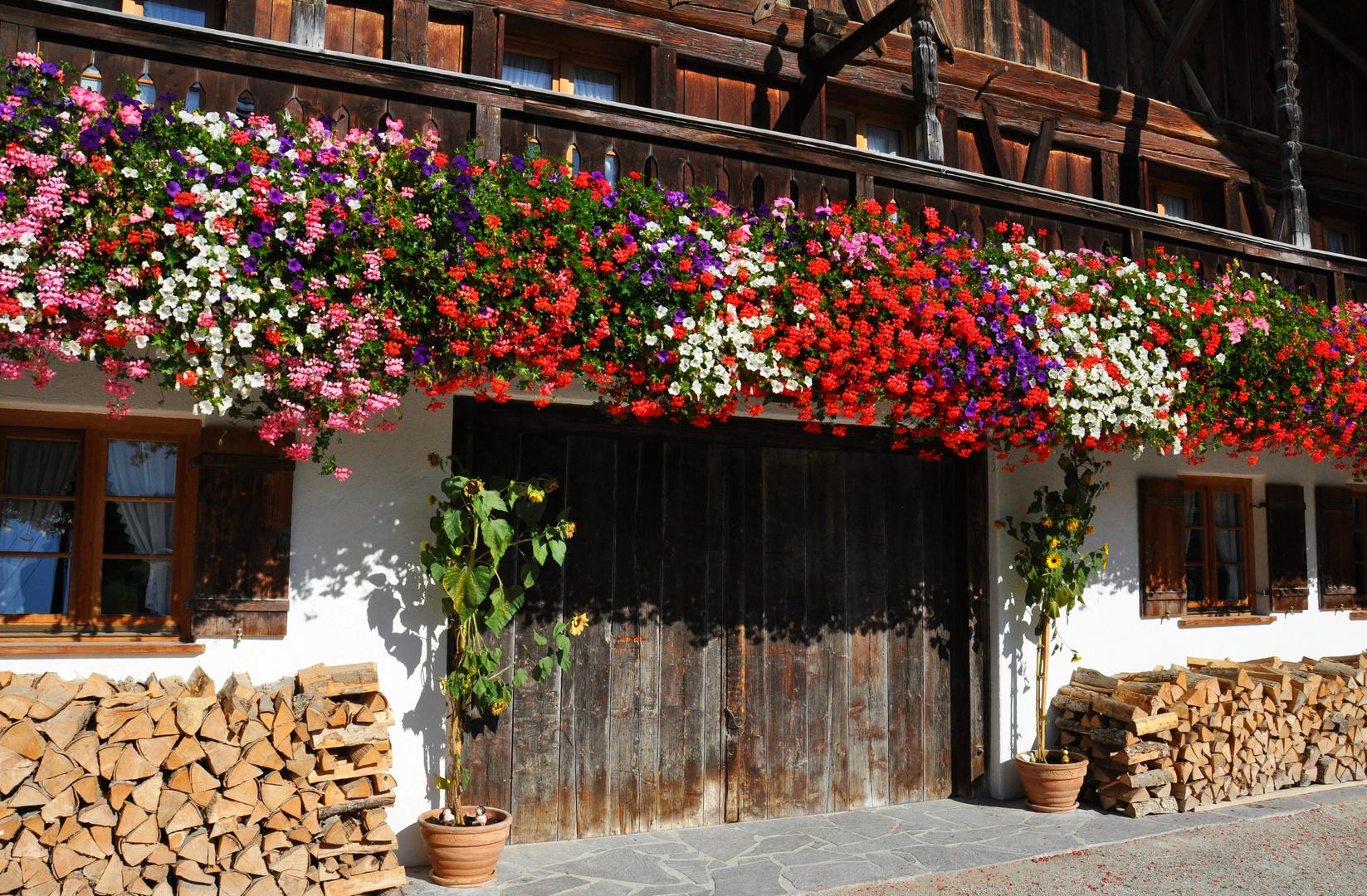 geranienpracht auf dem balkon foto bild deutschland europe bayern bilder auf fotocommunity. Black Bedroom Furniture Sets. Home Design Ideas