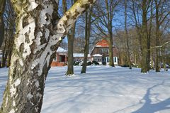 Gerhart-Hauptmann-Haus im Winter