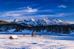 Geroldsee gegen Karwendelgebirge, Oberbayern