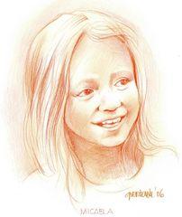 Gerrit's drawing of Micaela