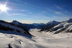 Geschafft !!! heute kurz nach 8.45 Uhr standen wir auf in dem Gletscher beim Jungfraujoch