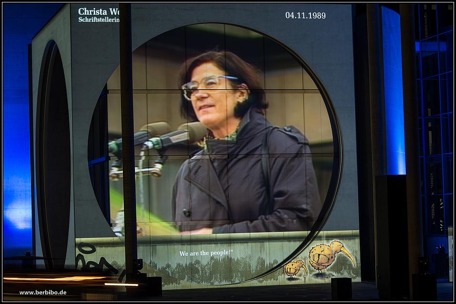 geschichte deutschlands, projiziert auf das marie-elisabeth lüders haus