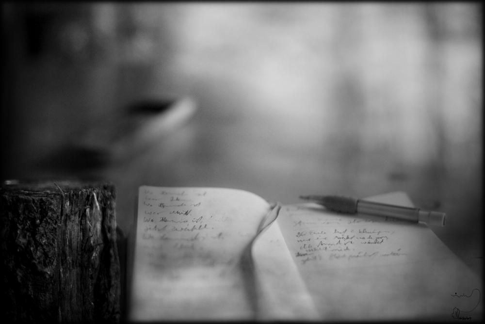 ...geschrieben, wo ich gern bin...............