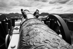 Geschütz auf Festung Königstein