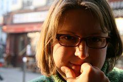 gesehen in einem kleinen Bistro in Paris, Montmarte