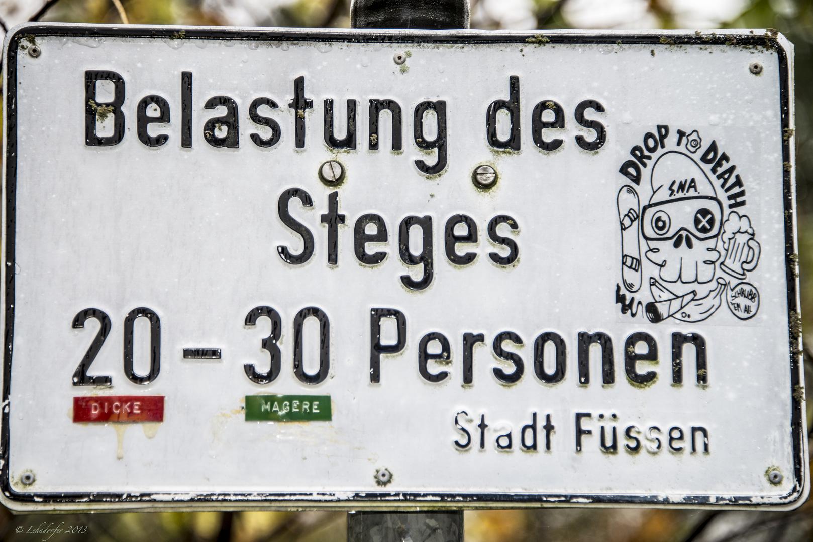 ... gesehen in Füssen im Allgäu