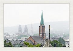 gesehen Von Nutzenberg, über Arrenberg, Johannisberg (Südstadt) in Nebel