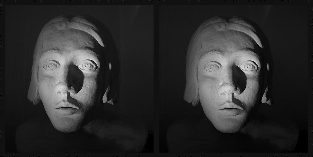 Gesicht, für V-, II-oder X-Blick