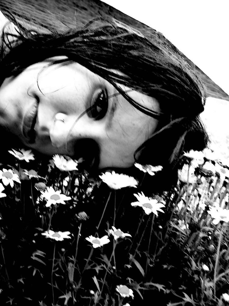 Gesicht in Blumen ;)