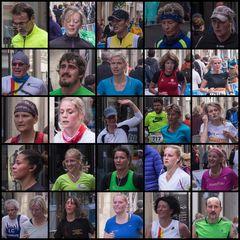 Gesichter des Sports beim 14. Volksbank Münster-Marathon ...noch 200 Meter...Ziel...!!