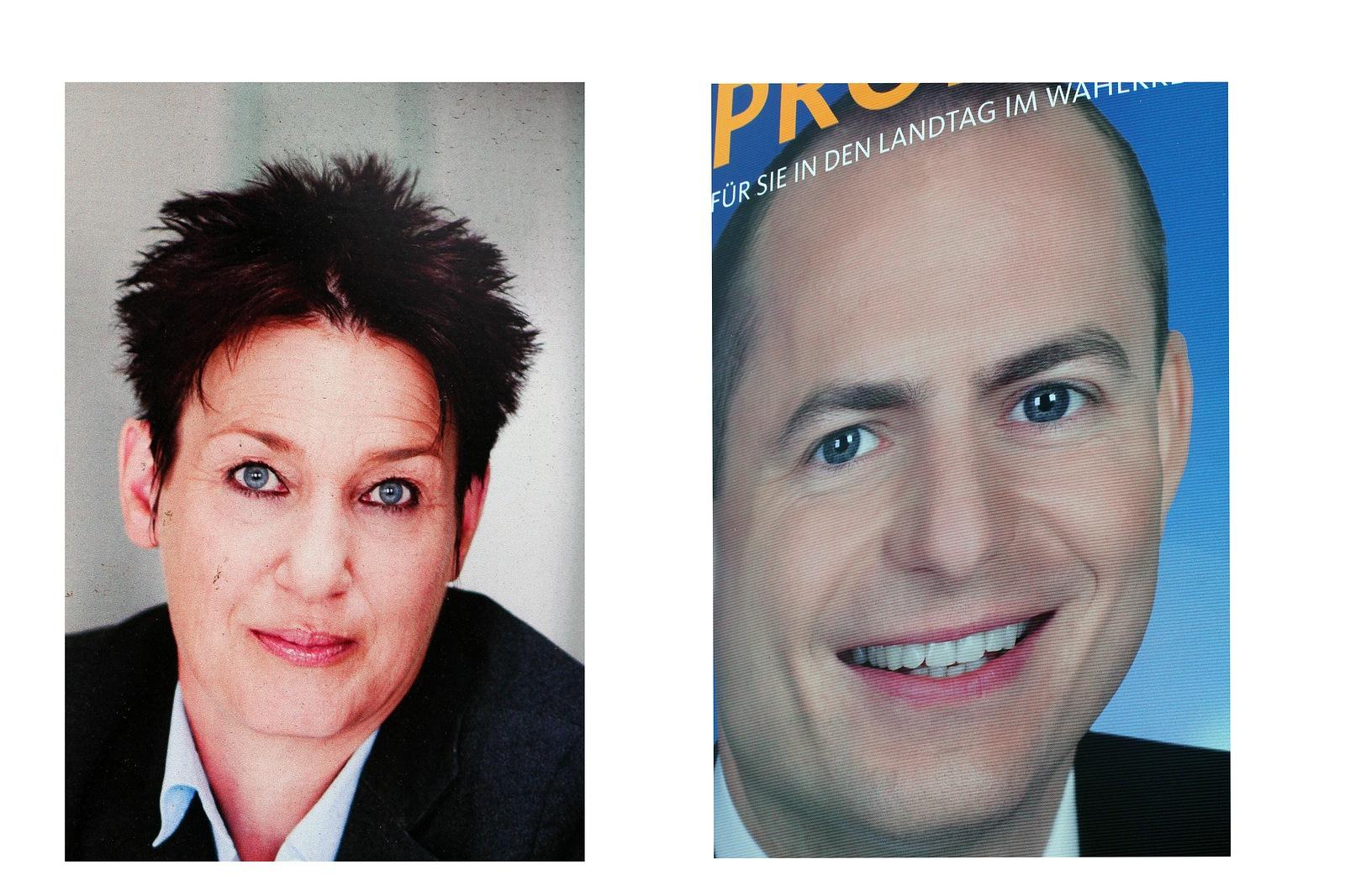 Gesichter im Wahlkampf