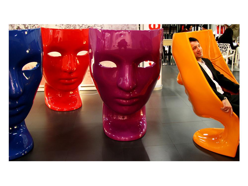 Gesichts Stühle Foto & Bild