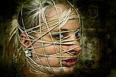 Gesichtsgebinde-Facebondage