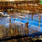 Gespiegelt ...  Baustelle in der Hafencity HAMBURG ...