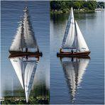Gespiegelt ... Segelschiff ...