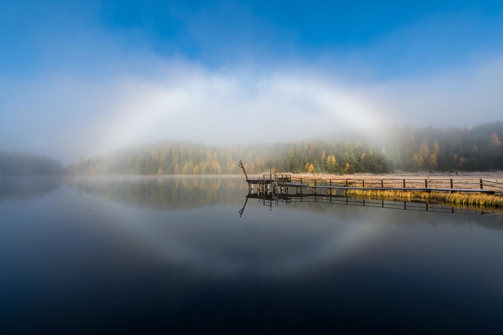 Gespiegelter Nebelbogen