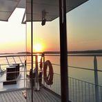 gespiegelter Sonnenuntergang