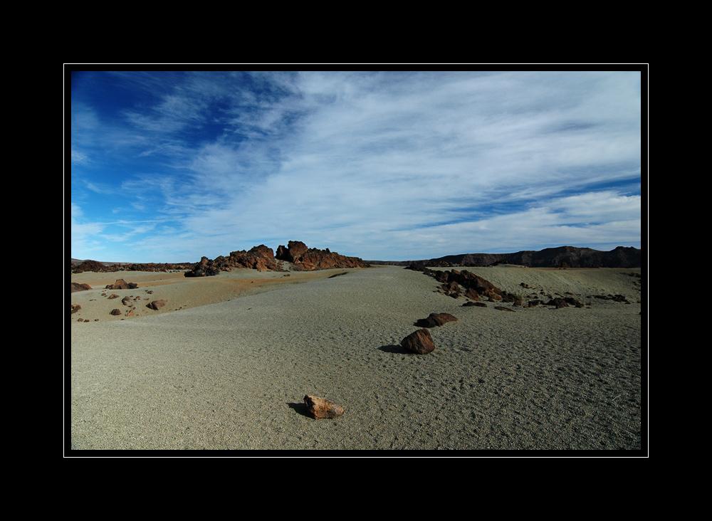 Gesteinsbrocken am Fuße des Teide