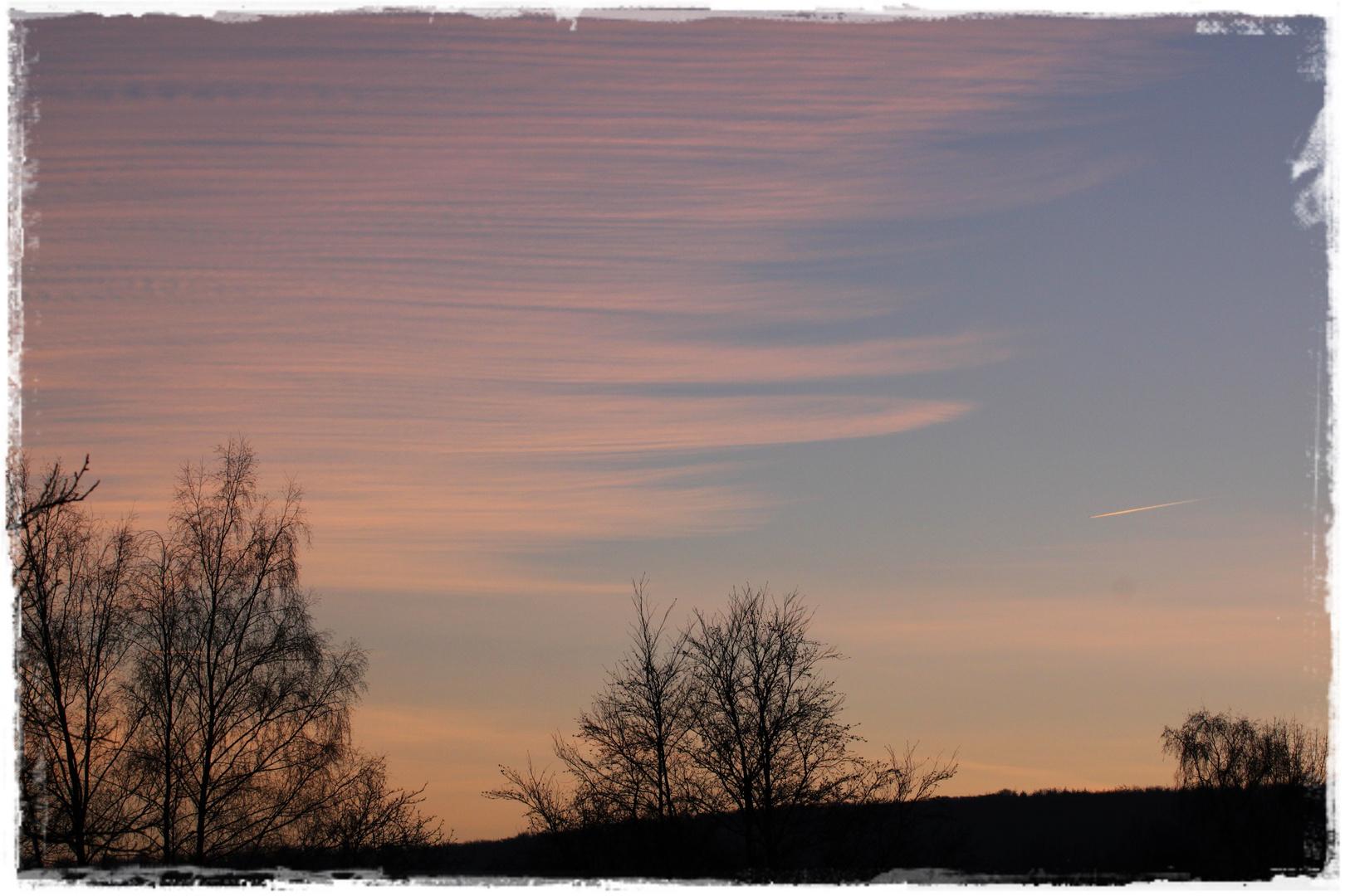Gestreifter Himmel Foto & Bild | wolken, himmel, natur Bilder auf ...