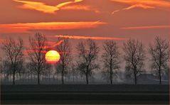 Gestreifter Sonnenaufgang