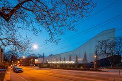 Gesundbrunnenstraße mit Stadion