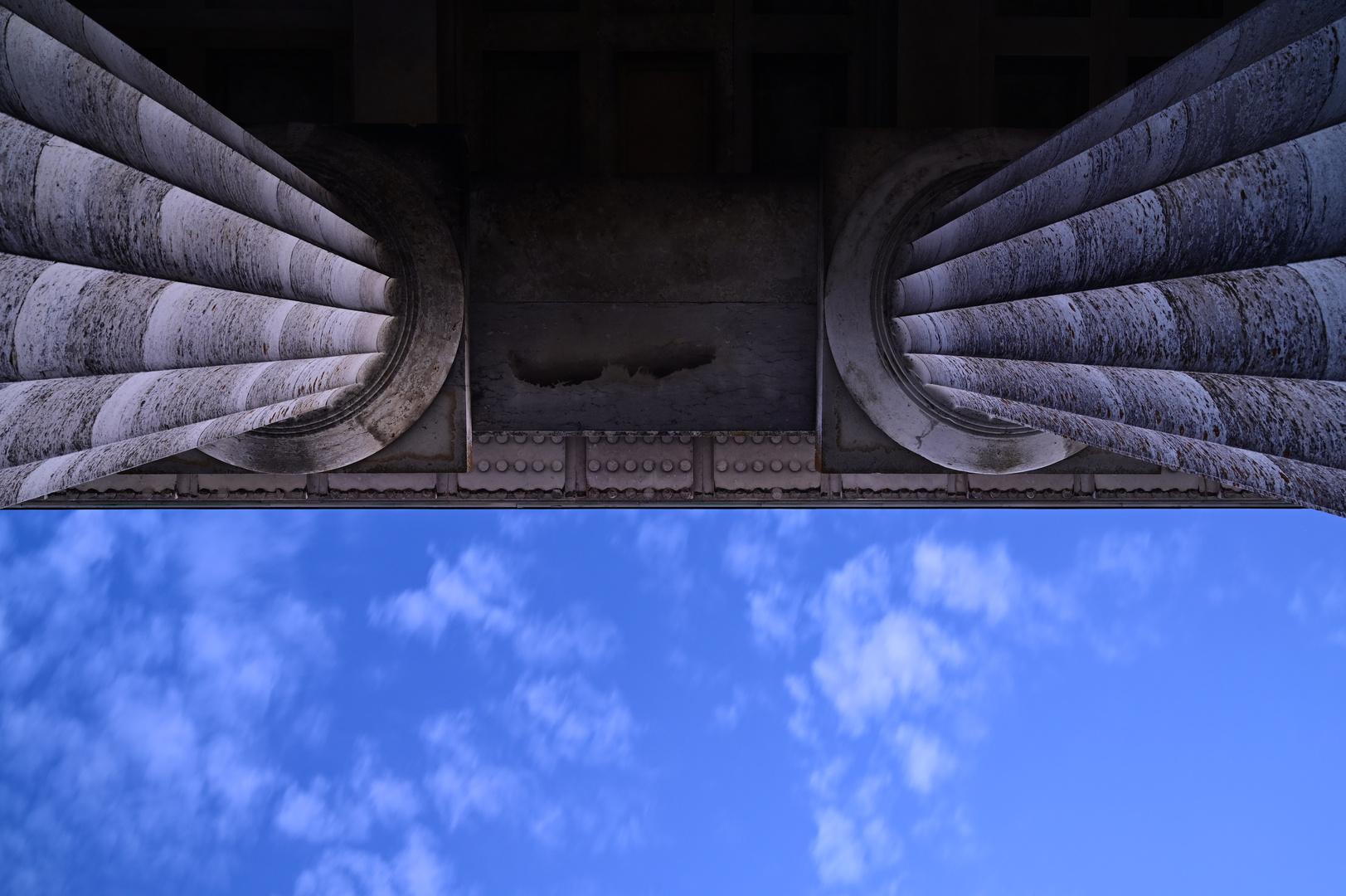 Geteilter Blick in den blauen Sommerhimmel...