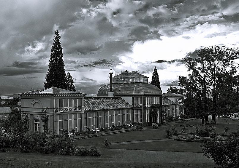 Gewächshaus im Bergpark Wilhelmshöhe