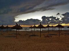 Gewitter am Strand
