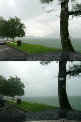 Gewitter am Zürichsee