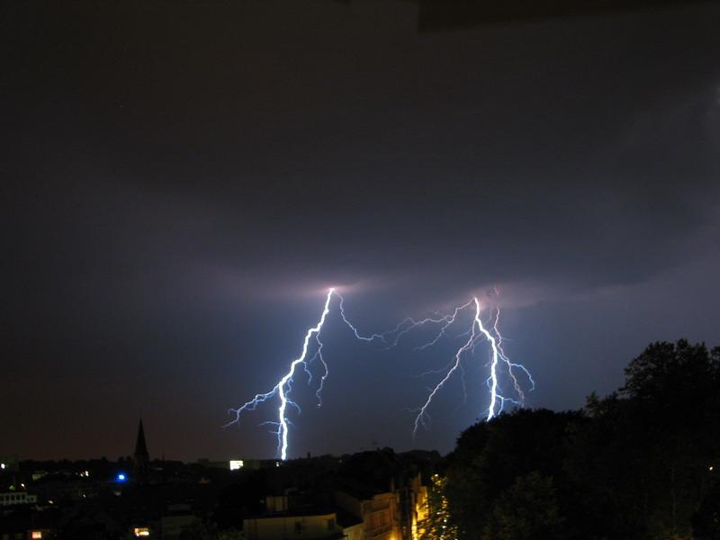 Gewitter über Aachen