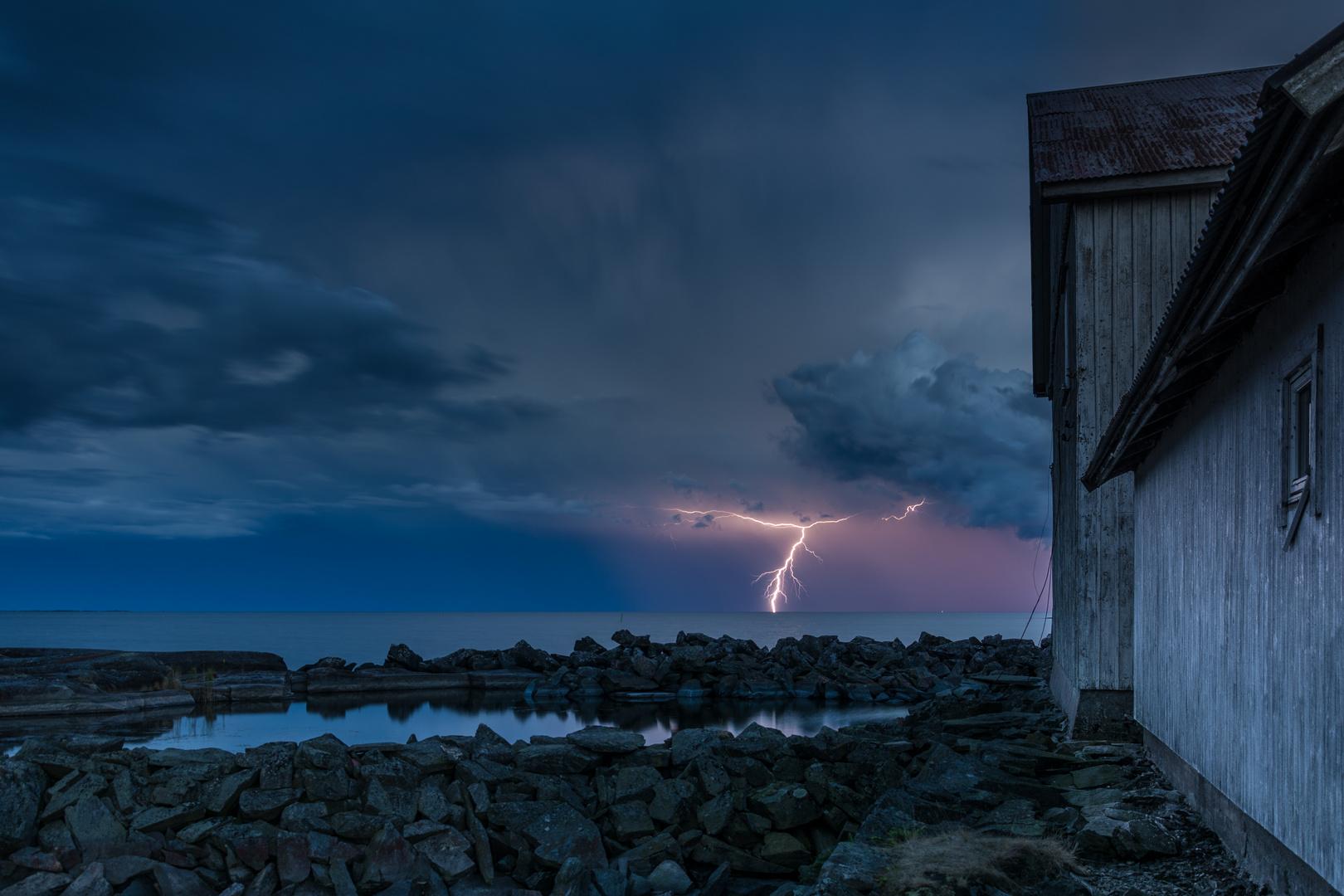 Gewitter über dem Vänernsee