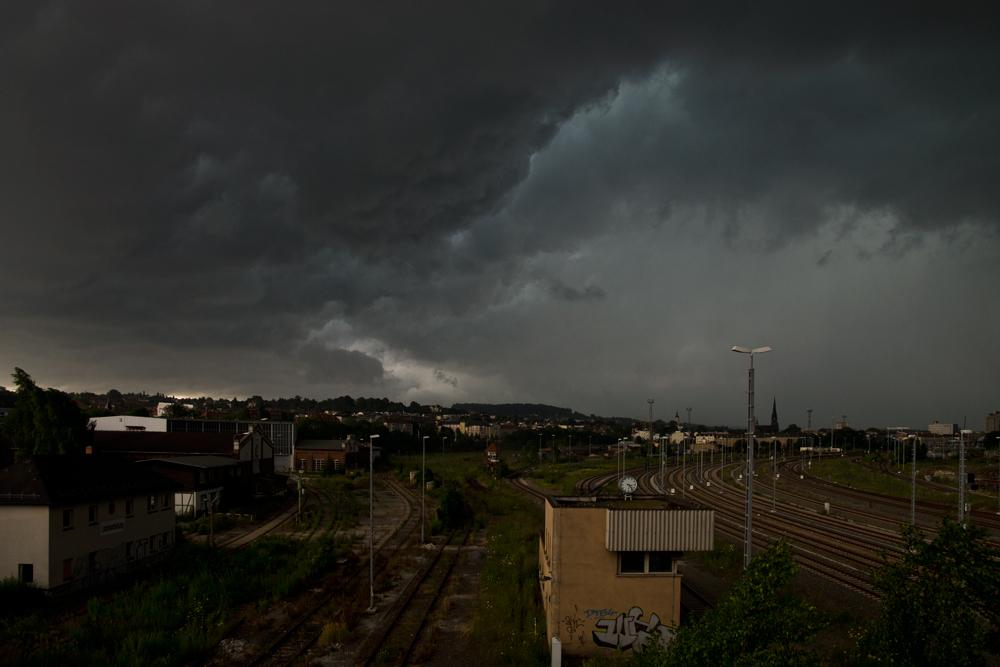 Gewitter über der Stadt