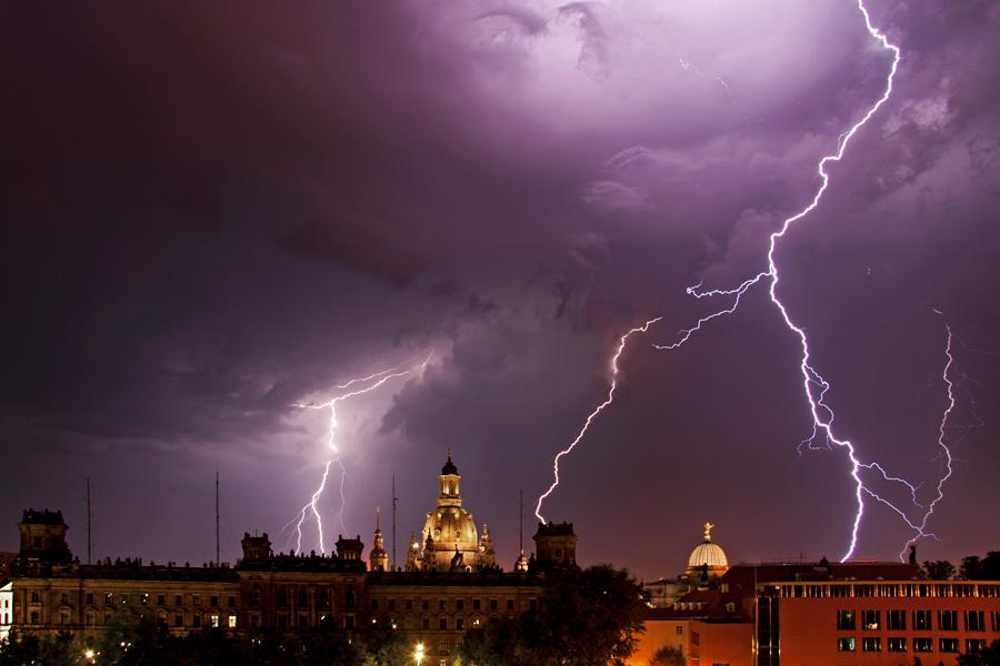 Gewitter über Dresden