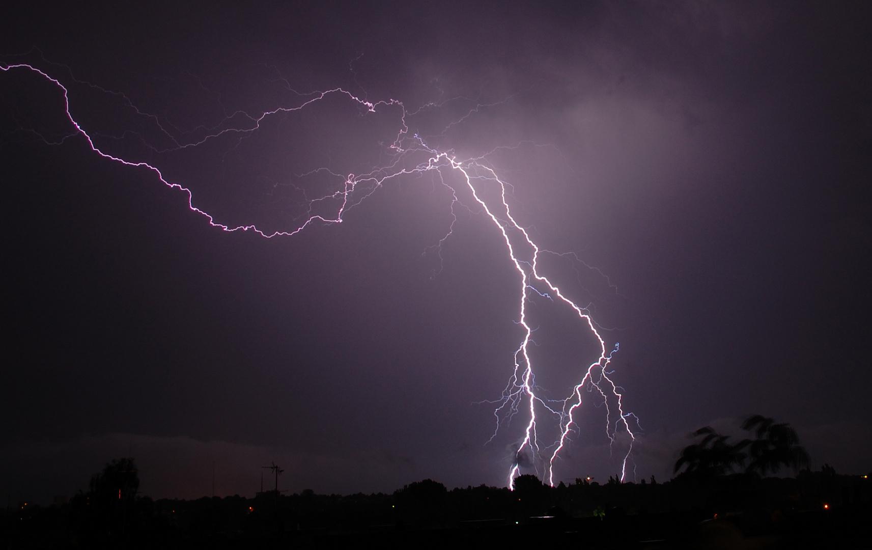 Gewitter über Lübeck