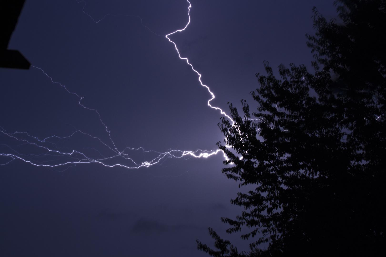 Gewitter über München