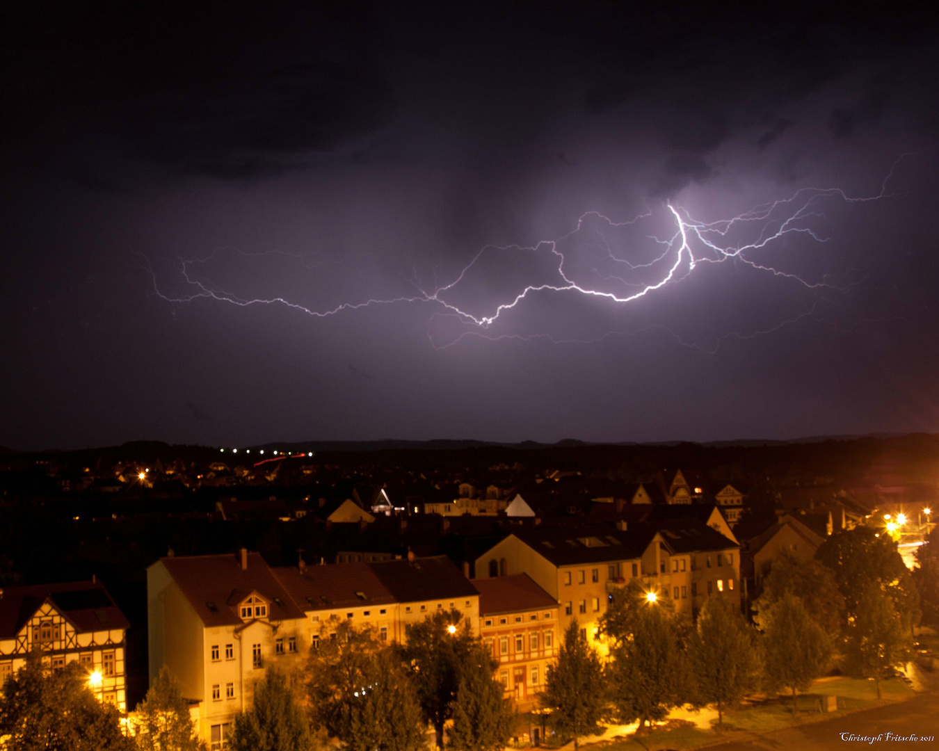 Gewitter über Nordhausen