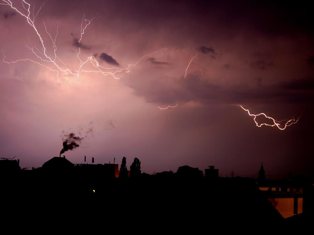 Gewitter über Pfungstadt!