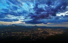 Gewitter über Salzburg