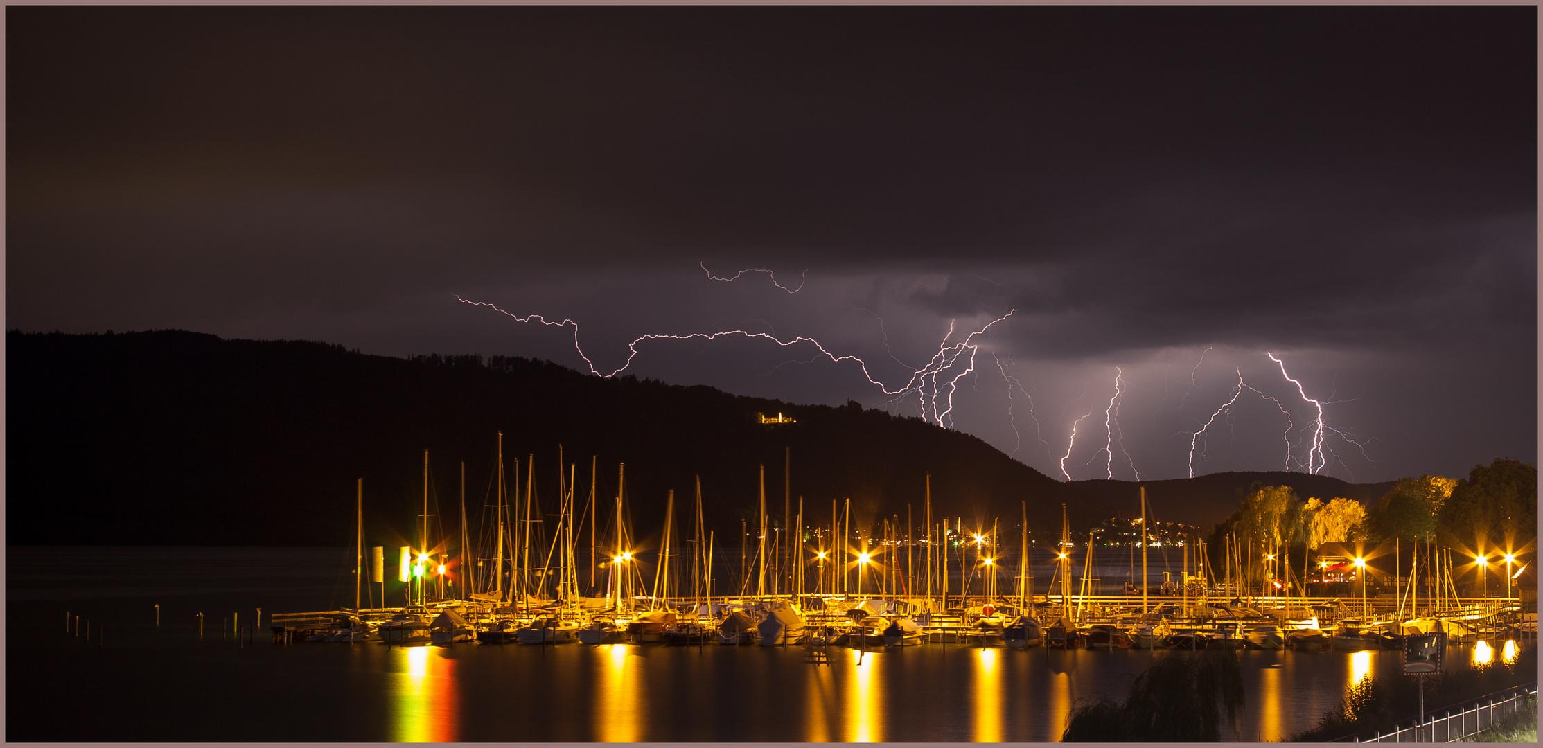Gewitter über Sipplingen am Bodensee