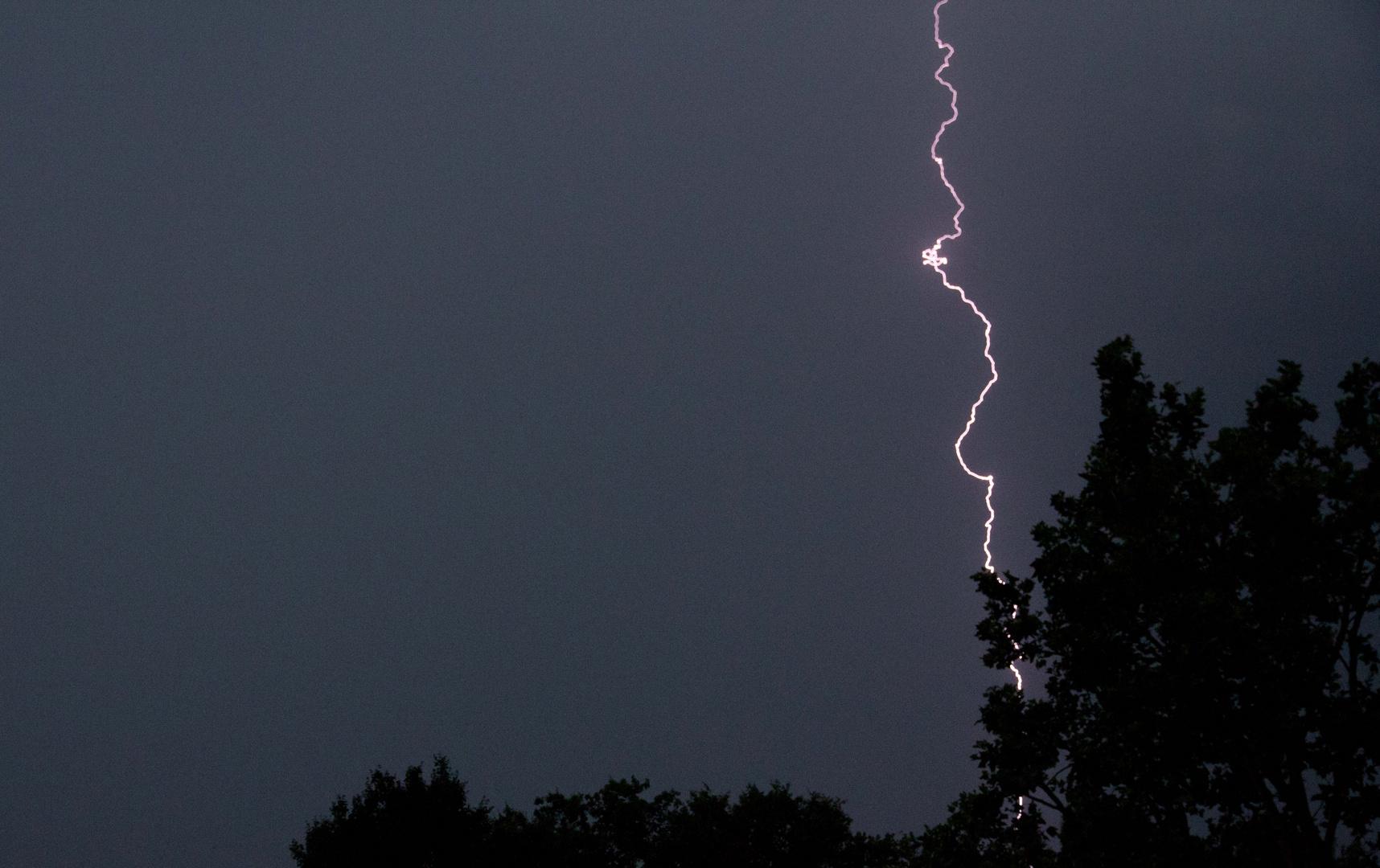 Gewitter über Wiesbaden