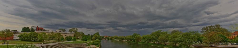 Gewitteraufzug über Ingolstadt