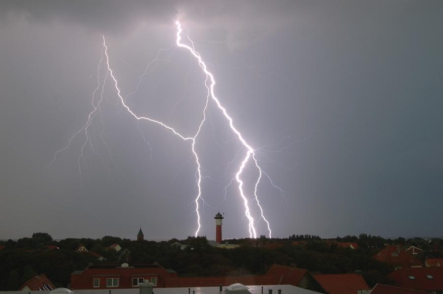 Gewitternacht über Wangerooge