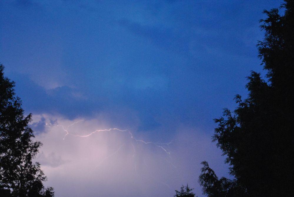 Gewitterstimmung bei uns am 20.05.2012